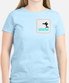 Diving Icon Women's Pink T-Shirt