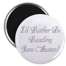 """Rather be Reading J.A. 2.25"""" Magnet (100 pack)"""