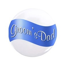 """Groom's Dad (flag) 3.5"""" Button"""