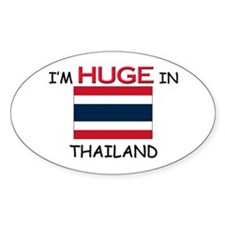 I'd HUGE In THAILAND Oval Decal