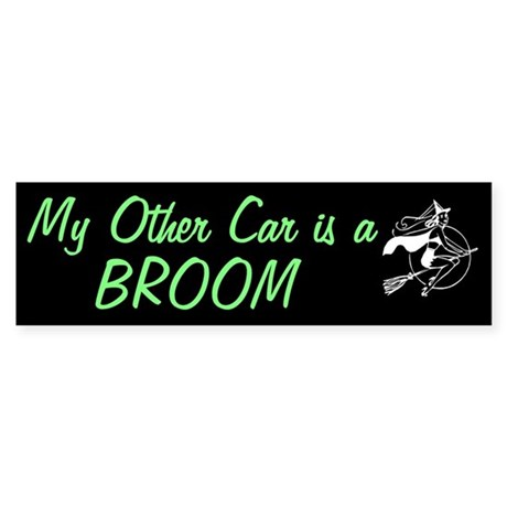 My other car is a broom (Bumper Sticker)