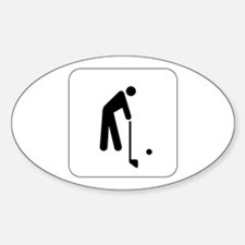 Golf Icon Oval Decal