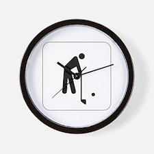 Golf Icon Wall Clock