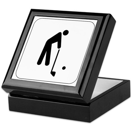 Golf Icon Keepsake Box