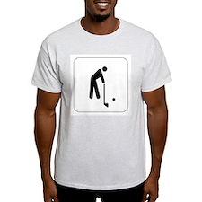 Golf Icon Ash Grey T-Shirt