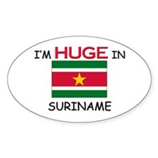 I'd HUGE In SURINAME Oval Decal
