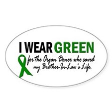 I Wear Green 2 (Brother-In-Law's Life) Decal