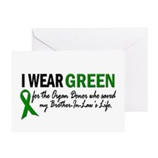 I Wear Green 2 (Brother-In-Law's Life) Greeting Ca