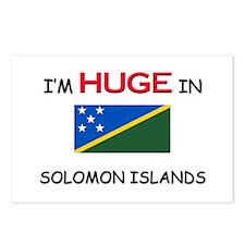 I'd HUGE In SOLOMON ISLANDS Postcards (Package of