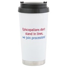 Lines and Processions Travel Coffee Mug