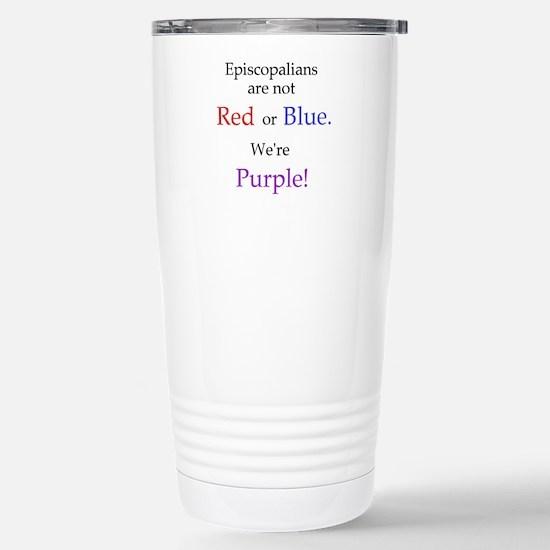 Episco-Purple Stainless Steel Travel Mug