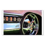 Pink Cadillac Rectangle Sticker 50 pk)