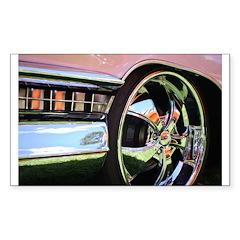 Pink Cadillac Rectangle Sticker 10 pk)