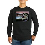 Pink Cadillac Long Sleeve Dark T-Shirt