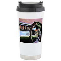Pink Cadillac Stainless Steel Travel Mug