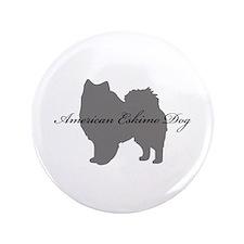 """American Eskimo Dog 3.5"""" Button"""