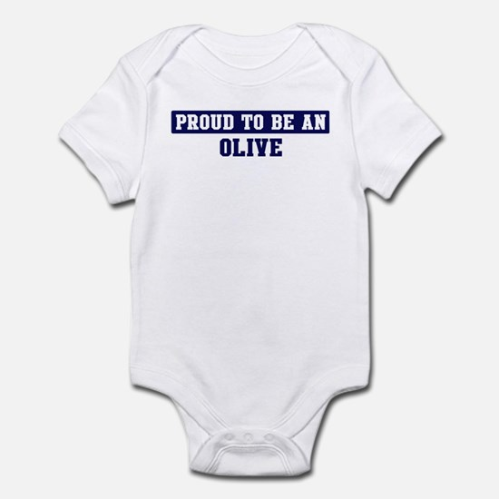 Proud to be Olive Infant Bodysuit