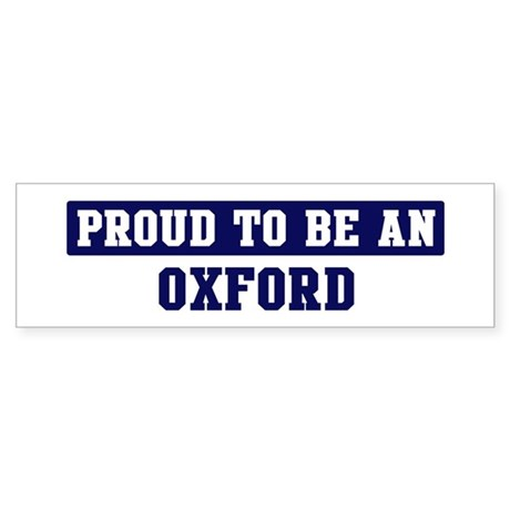 Proud to be Oxford Bumper Sticker
