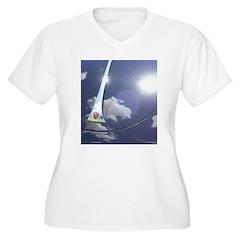 Porschescape II Women's Plus Size V-Neck T-Shirt
