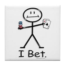 BusyBodies card gambling Tile Coaster