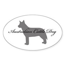 Australian Cattle Dog Oval Decal