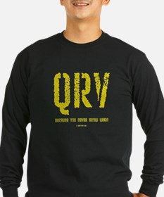 """""""QRV ... You Never Know When"""" T"""