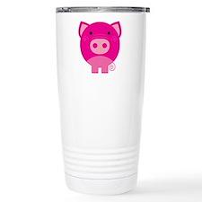 Pink Pig Stainless Steel Travel Mug