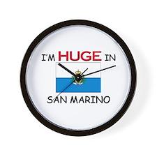 I'd HUGE In SAN MARINO Wall Clock