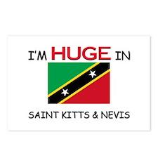 I'd HUGE In SAINT KITTS & NEVIS Postcards (Package