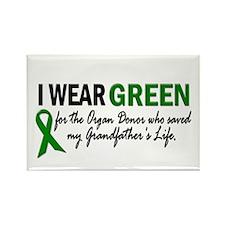 I Wear Green 2 (Grandfather's Life 2) Rectangle Ma
