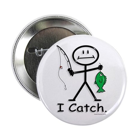 "BusyBodies Fishing (catch) 2.25"" Button (10 pack)"
