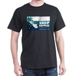 """Surveyor's Dark T-Shirt - """"Ship Happens"""""""