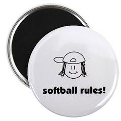 softball rules! Magnet