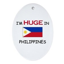 I'd HUGE In PHILIPPINES Oval Ornament