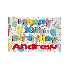 Andrew's 10th Birthday Rectangle Magnet