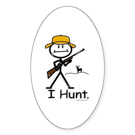 BusyBodies Deer Hunter (Rifle) Oval Sticker