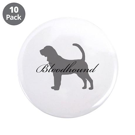 """Bloodhound 3.5"""" Button (10 pack)"""