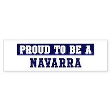 Proud to be Navarra Bumper Bumper Sticker