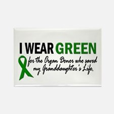 I Wear Green 2 (Granddaughter's Life) Rectangle Ma