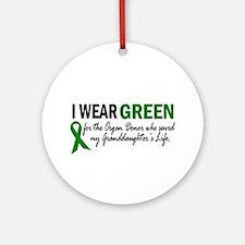 I Wear Green 2 (Granddaughter's Life) Ornament (Ro