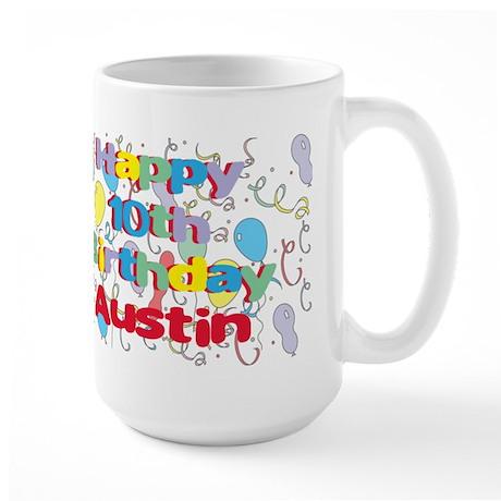 Austin's 10th Birthday Large Mug