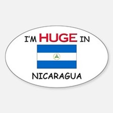 I'd HUGE In NICARAGUA Oval Decal