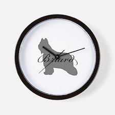 Briard Wall Clock