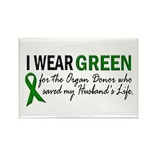 I Wear Green 2 (Husband's Life) Rectangle Magnet