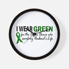 I Wear Green 2 (Husband's Life) Wall Clock