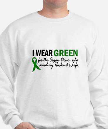 I Wear Green 2 (Husband's Life) Sweatshirt
