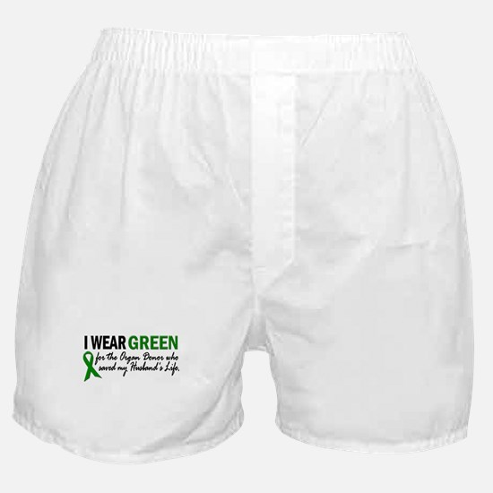 I Wear Green 2 (Husband's Life) Boxer Shorts