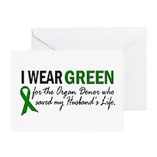 I Wear Green 2 (Husband's Life) Greeting Card