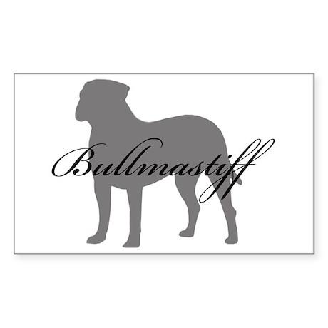 Bullmastiff Rectangle Sticker
