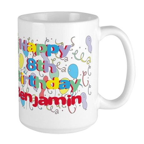 Benjamin's 8th Birthday Large Mug